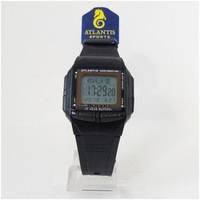 Relógio Digital Atlantis Databank Telememo 5 Alarme Original