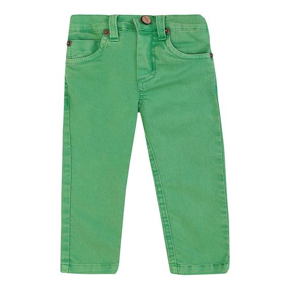 Calça Masculino Bebê Sarja Verde