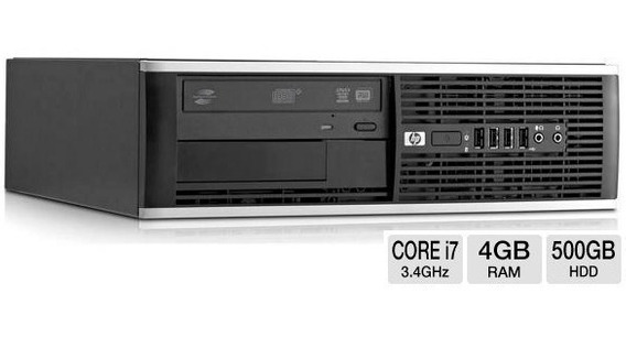 Computador Desktop Pc Hp Intel I7 3.4 Ghz 4 Giga Hd 500 Giga