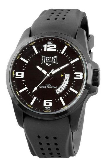 Relógio Pulso Everlast Masculino Silicone Calendário E486