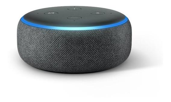 Echo Dot Amazon Smart Speaker Preta Alexa 3 Geracao Em Portu