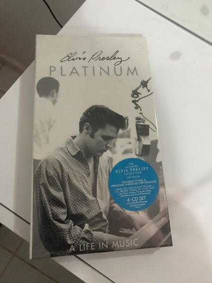 Elvis Presley Box Platinum Lacrado 04 Cds Importado