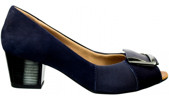 Sapato Peep Toe Feminino Usaflex Mestiço Joanetes Q6672