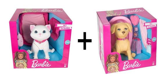 Boneca Barbie - Cachorro E Gato Da Barbie - Pupee Brinquedos