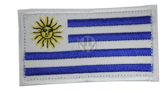 Parche Bordada Bandera Uruguay Uy Clasica Abrojo Uruguaya