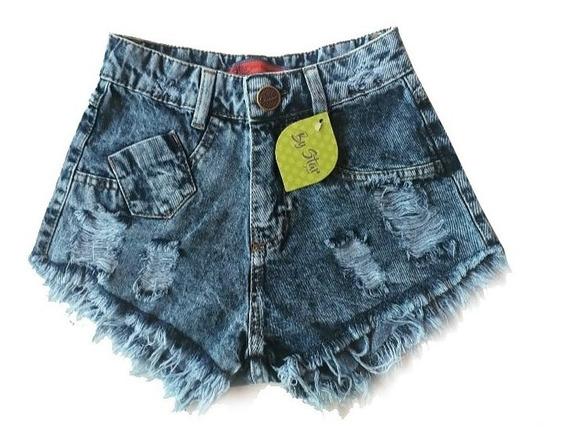 Kit 3 Shorts Jeans Feminino Atacado Cintura Alta Sortidos