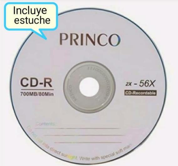 Cd Vírgenes Princo De 700 Mb, 80 Min, Nuevos. Con Su Estuche