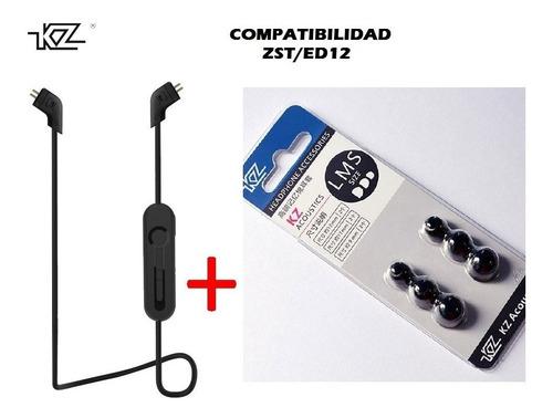 Bluetooth 4.2 Audífonos Kz Ed12 Zst  + Kit Espumas