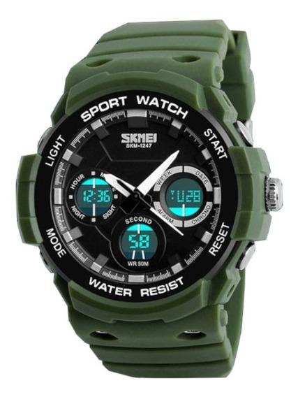 Relógio Masculino Esportivo Militar Anadigi Prova D