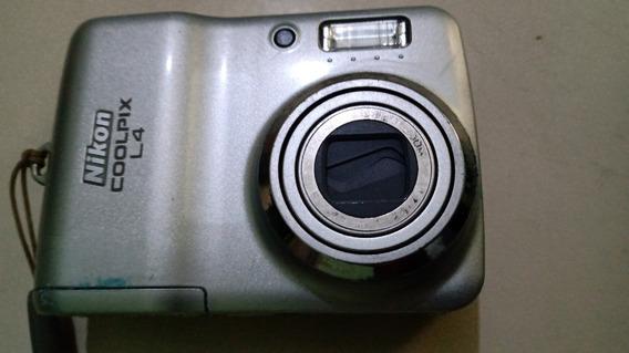 Camera Coolpix L4 - Usada Para Peças
