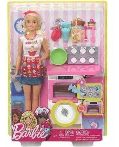 Barbie Cozinhando E Criando Chef De Bolinhos - Mattel Fhp57