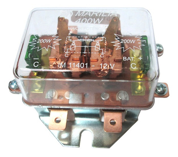 Rele Farol Duplo Universal 400w Transparente
