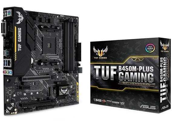 Placa Mãe Asus Tuf B450m-plus Gaming Amd Am4 Ddr4 Ryzen B450
