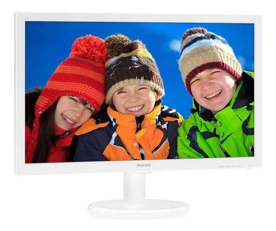 Monitor Philips 223v5lhsw Tela 21,5 Led Branco Vga/hdmi