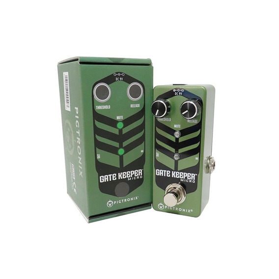 Pedal Pigtronix Gate Keeper Micro Efeito Noise Gate + Fonte