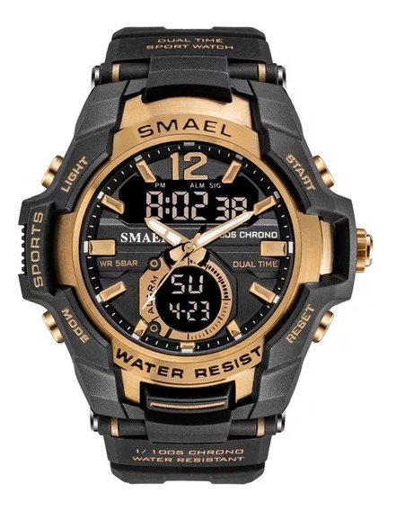 Relógio Esportivo De Pulso Smael 1805 A Prova D