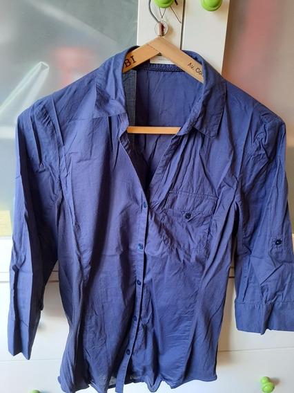 Camisa Yagmour Talle 42 Azul Oscuro