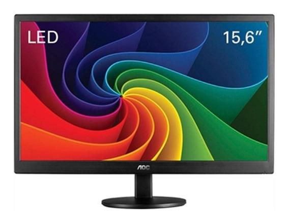 Monitor Pc 15 Polegadas Led 1366x768 Hd 60 Hz Vga Vesa Aoc