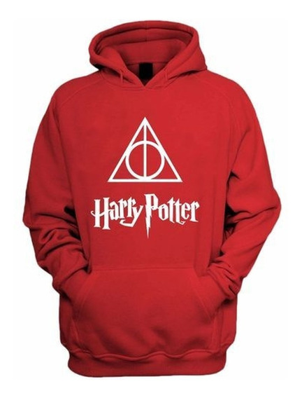 Blusa Moletom Canguru Harry Potter As Relíquias Da Morte