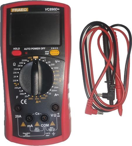 Multitester Digital  Pantalla Lcd  Alta Precisión