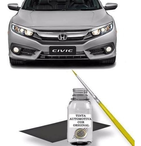 Tinta Tira Risco Retoque Auto Honda Civic Cor Prata Platinum