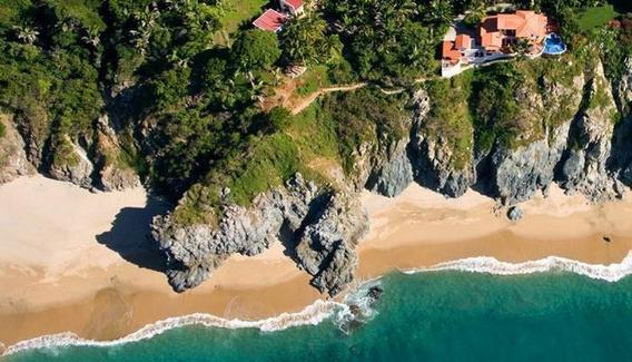 Se Vende Villa Estilo Mediterraneo En Acantilado Frente Al Mar Con Playa Privada