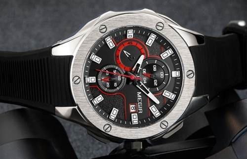 Relógio Megir Chronograph 2084 - Pulseira Borracha Resina