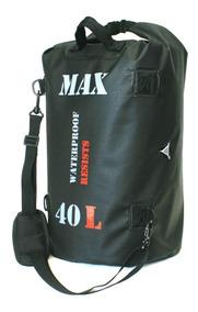 Bolsa Impermeável Para Viagem Motociclista Moto Max Bag 40 L