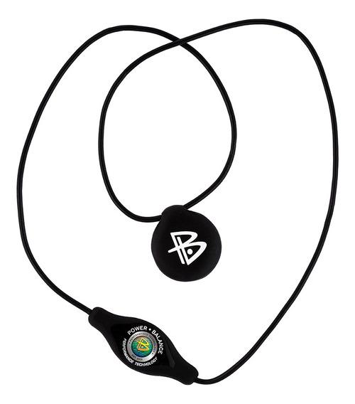Colar De Silicone Power Balance Preto - Letras Brancas