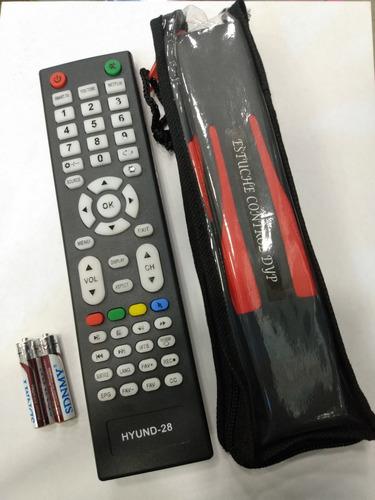 Imagen 1 de 1 de Control Remoto Para Tv Hyundai / Sankey Smart + Forro Y Pila