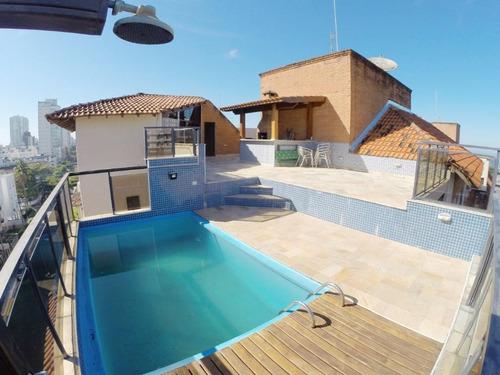 Imagem 1 de 28 de Cobertura Com 3 Dormitórios À Venda, 174 M² Por R$ 750.000,00 - Praia Da Enseada - Guarujá/sp - Co0861