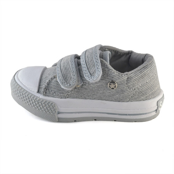 Zapatilla Abrojo Gris Melange Small Shoes
