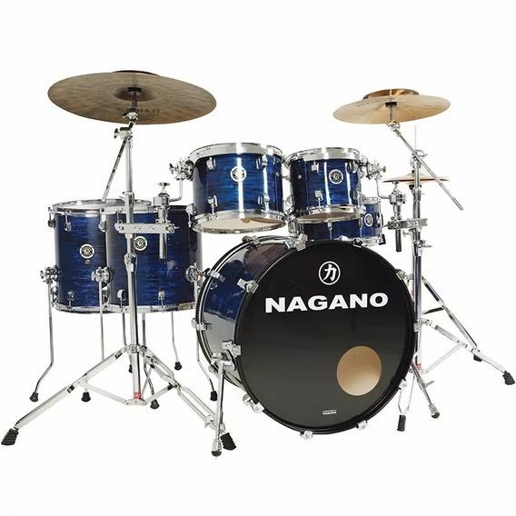 Bateria Acústica Nagano Concert Full Celulloid Brooklin Blue