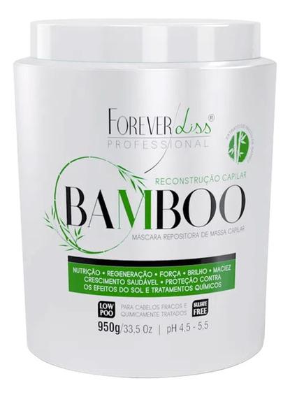 Mascara Bamboo Forever Liss Reposição De Massa Capilar 950g