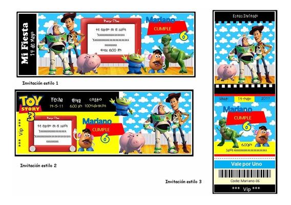 Kit Imprimible Toy Story Candy Bar Invitaciones Cotillón