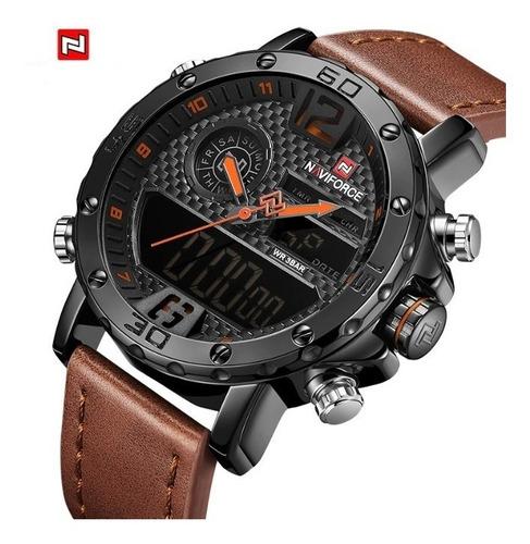 Reloj Hombre Naviforce Cuarzo Analogico-digital Led