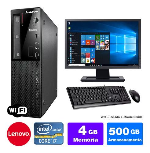 Imagem 1 de 5 de Lenovo Thinkcentre Int Barato I7 4g 4gb 500gb Mon19w Brinde