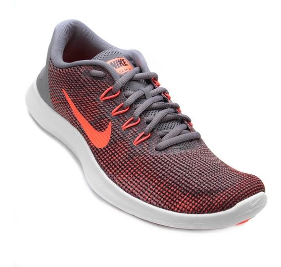 Tênis Nike Flex 2018 Rn Cinza/laranja