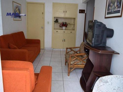 Imagem 1 de 9 de Apartamento À Venda No Guarujá, Próximo Da Praia, Sacada, 01 Vaga De Garagem. - Ap8093