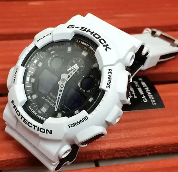 Relógio Importado Masculino Branco G-shóks Super Oferta
