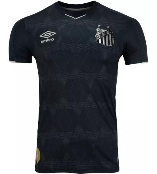 Camisa Do Santos 3 Uniforme Preto Masculino Frete Grátis