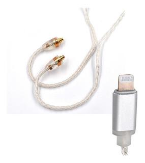 Cable Plata Premium Mmcx Conector Lightning