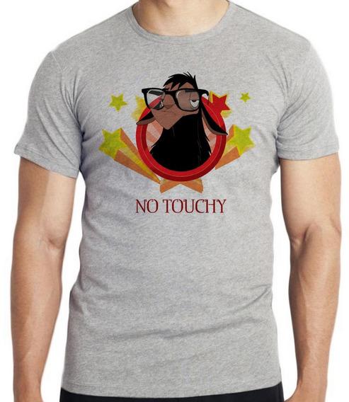 Camiseta Luxo Lhama No Touchy Não Encoste Ranço Oculos