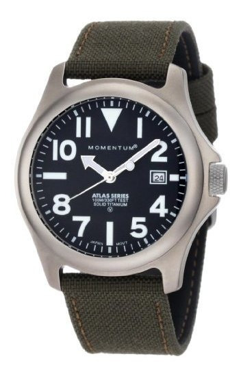 Momentum 1m-sp00b6g Atlas Reloj De Titanio Para Hombre Con C