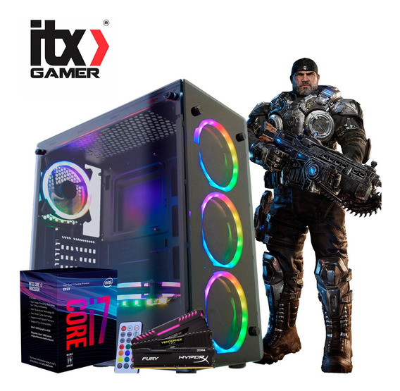 Kit Pc Gamer Intel Core I7 8700 + Tuf B360m + 16gb + Ssd240gb + Corsair 650w + Gabinete Rgb