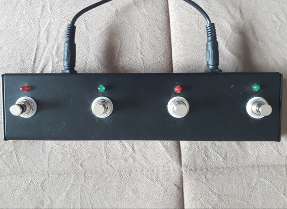 Footswitch Duplo Com Leds Para Peavey 6505mh / Classic 20mh
