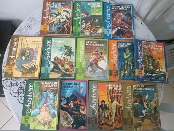 Livros Coleção Grandes Aventuras - 13 Volumes - Clássicos