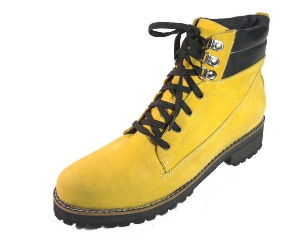 Botas Loba De Mujer 41 42 43 Y 44 Cuero Amarillo En Moreno