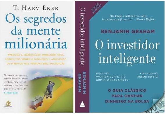 Kit Investidor Inteligente + Segredos Da Mente (2 Livros)