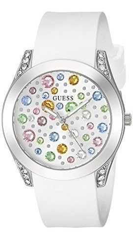 Relógio Guess Woman U1059l1 Branco 2018 Colection Original